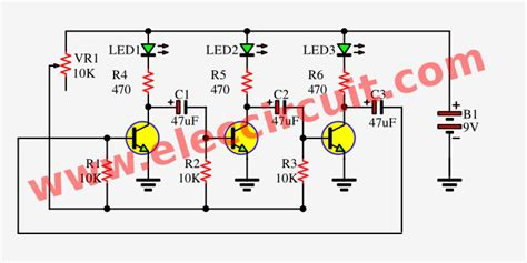 Led Flasher Circuit Transistors Astable Multivibrator