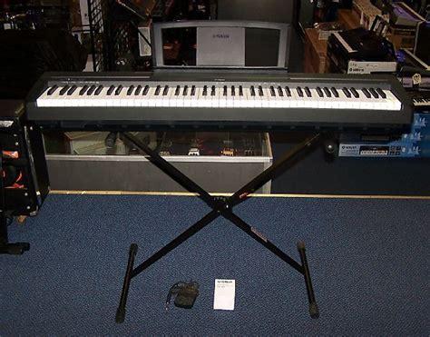 yamaha p 35b yamaha p35b 88 key digital piano keyboard p 35b w stand and reverb