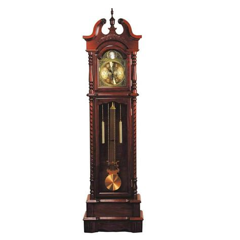 broadmoor grandfather clock winding mechanism pendulum key wound chimes walnut ebay