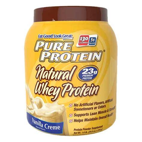 Pure Protein Natural Whey Protein Powder - Vanilla Creme