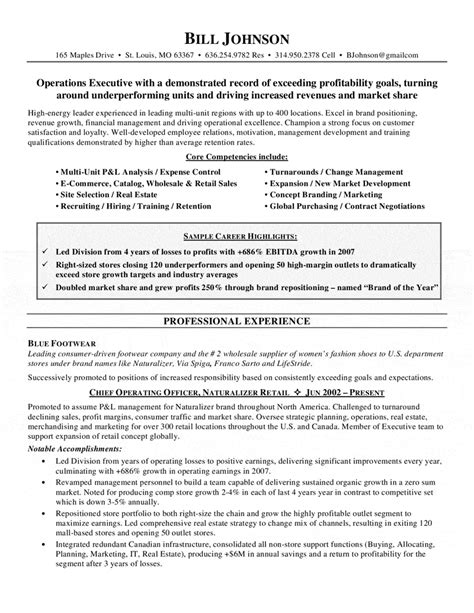 Hospital Coo Resume Sle by Coo Resume Sle 28 Images Images Chief Operations