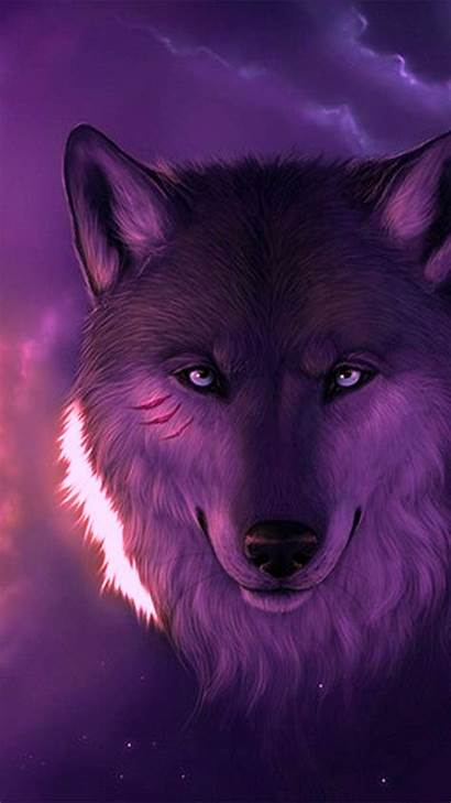 Wolf Cool Android Wallpapers Purple Phone Backgrounds