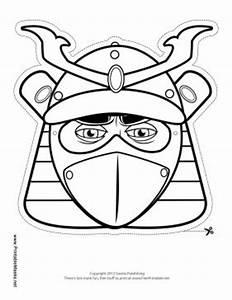 male samurai mask to color printable mask free to With kabuki mask template