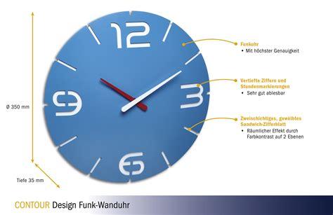 Design Funk-wanduhr Contour