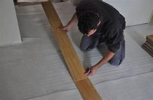 plancher flottant stratifie le bois chez vous With poser un parquet stratifié