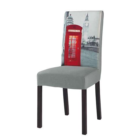 housse de chaise en coton grise margaux maisons du monde