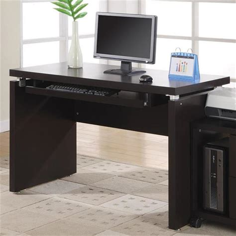 monarch specialties contemporary cappuccino computer desk at lowes com