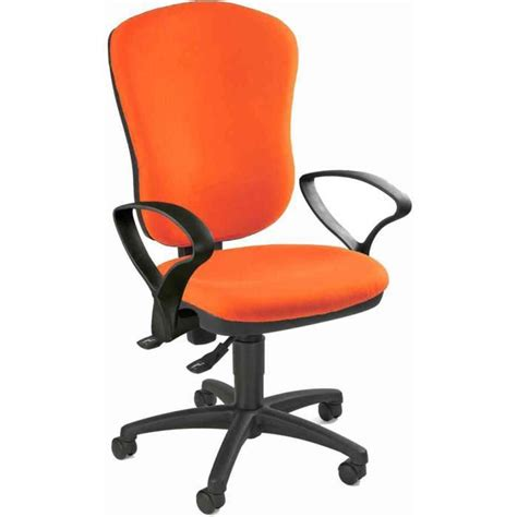 chaise de bureau orange siège de bureau quot point 80 quot orange 100 polyolé achat