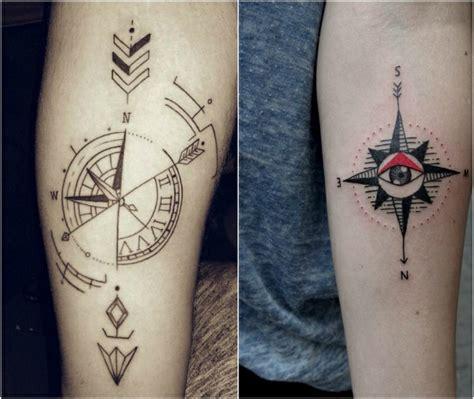 tattoo kompass symbolische bedeutung  moderne designs