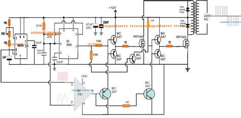 spwm inverter circuit using ic 555 kipr 243 b 225 land 243 projektek in 2019 circuit projects circuit