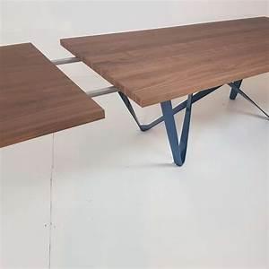 Table Bois Metal Extensible : table design extensible en m tal et bois wave 4 ~ Teatrodelosmanantiales.com Idées de Décoration