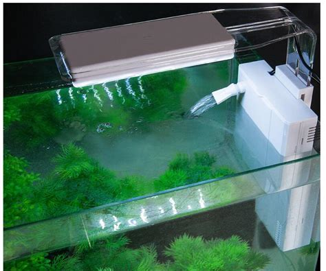 sobo fish tank aquarium back hanging type mute filter with intelligent touch ledpumping