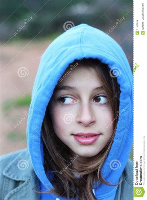 cool teenage girl  hoodie royalty  stock images
