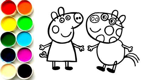 como dibujar  colorear  peppa pig  pedro pony dibujos