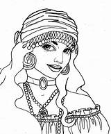 Gypsy Sketch Drawing Royal Scarlett Drawings Coloring Pages Sketches Ink Pen 6th Uploaded June Which sketch template