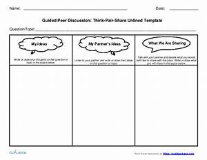 Think pair share discussion templates grades 3 5 for Think pair share template