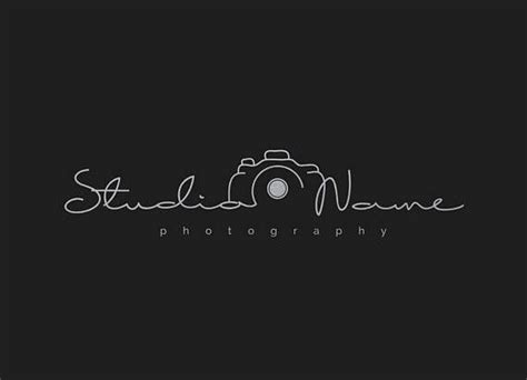 Photography Modern Camera Logo (with Multiple Foil Colors