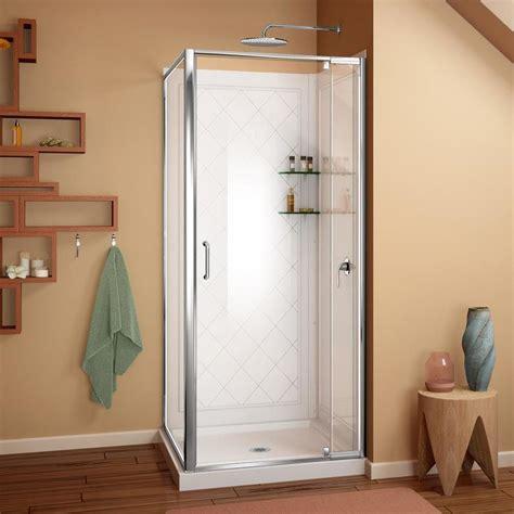 3 Shower Kit by Dreamline Flex Acrylic Wall Floor Square 3 Corner