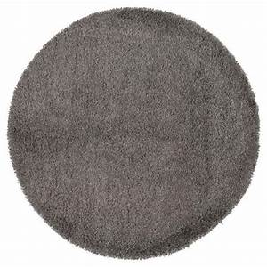 dom tapis shaggy rond poils longs gris o 200cm achat With tapis rond diametre 200