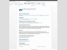 Sitzungsprotokoll zum Runterladen – Wordvorlagede