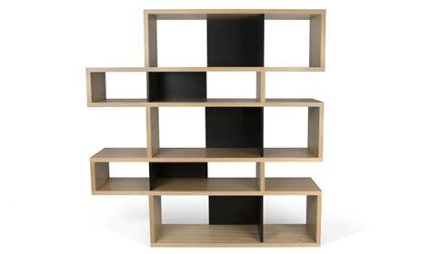 bureau noir et blanc bibliothque design mi haute temahome