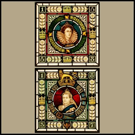 ref vic  antique victorian stained glass windows