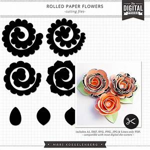 Rolled Paper Flowers The Cutting Files