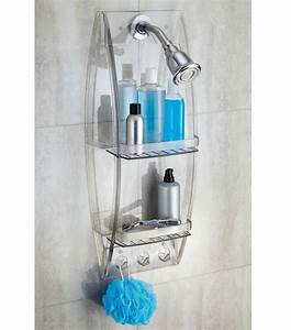 Grand arc shower caddy in shower caddies for Non rust bathroom accessories