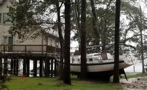 Boats Damaged By Hurricane Florence by 4 Dead As Florence Drenches The Carolinas The