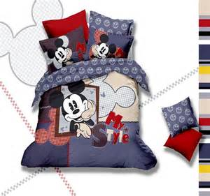 cute mickey mouse head queen size bedding boys and girls
