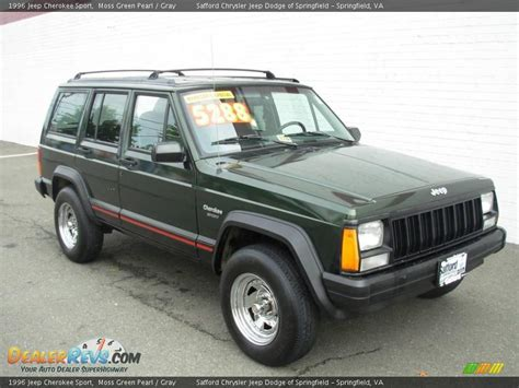 jeep cherokee sport green 1996 jeep cherokee sport moss green pearl gray photo 7