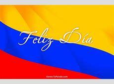 Tarjeta animada para fiestas de Colombia, fechas