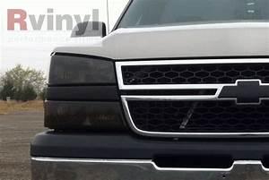 2004 Chevy Avalanche Lights Pro Precut Smoke Headlight Tint Film Kit Chevy Avalanche