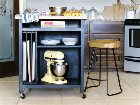 kitchen island on casters how to build a diy kitchen island on wheels hgtv