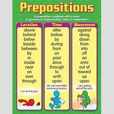 "Trend Enterprises Prepositions Learning Chart  Teach Me, So I Can Teach U !! Ënglish"" English"
