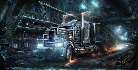 cyberpunk trucks hd wallpapers desktop  mobile