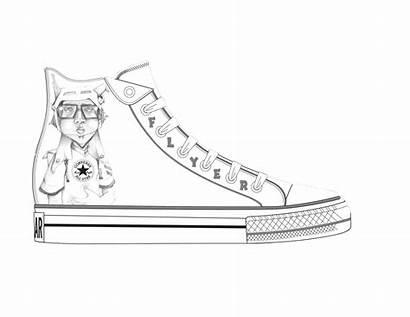 Coloring Jordan Shoes Pages Air Nike Drawing