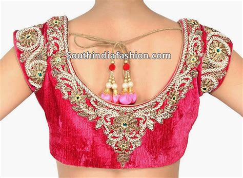 indian blouses heavy work velvet blouse designs south india fashion