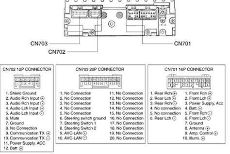 toyota     head units pinout diagram