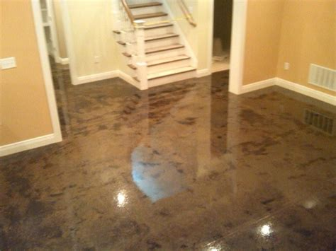 Outdoor Patio Flooring Over Concrete by Stain Concrete Basement