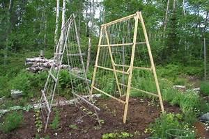 A Frame Structures In The Vegetable Garden Quiet Corner