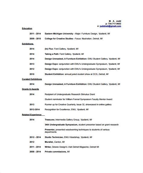 artist resume template   word  document