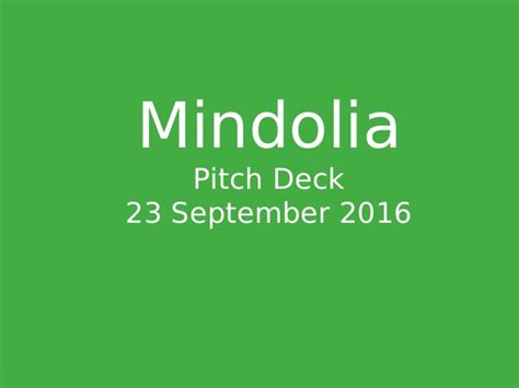 Sequoia Capital Pitch Deck Exle by Mindolia Recognition Pitch Deck