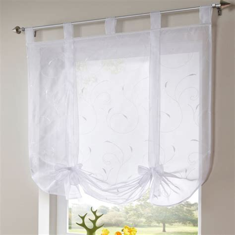 tie up window curtains pottery barn tie up curtain shade