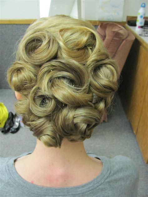 pin curl updo Pin curl updo Curled updo Hair styles