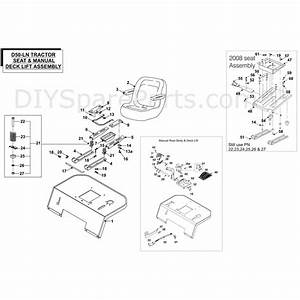 Countax D50ln Lawn Tractor 2009  2009  Parts Diagram  Seat