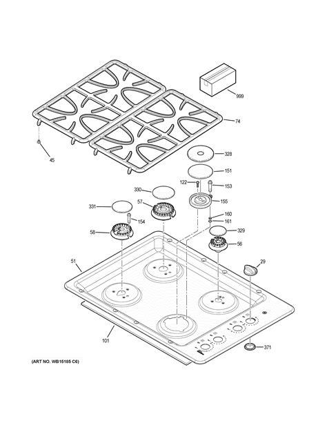 ge model jgpsetss counter unit gas genuine parts