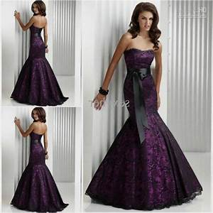 purple wedding dress purple and black wedding dresses With dark purple dresses for weddings