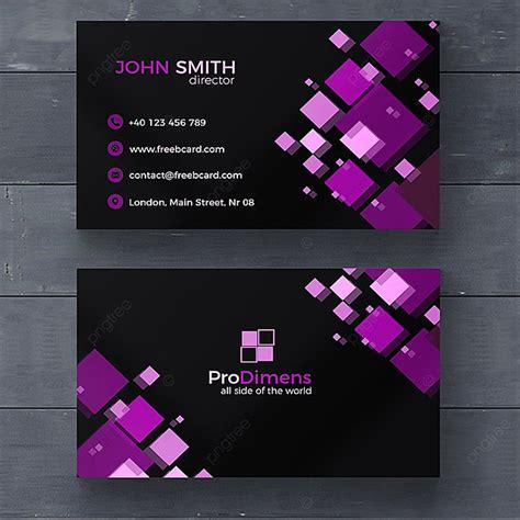 black  purple business card template