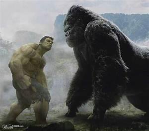 Hulk vs King Kong   Marvel   Pinterest